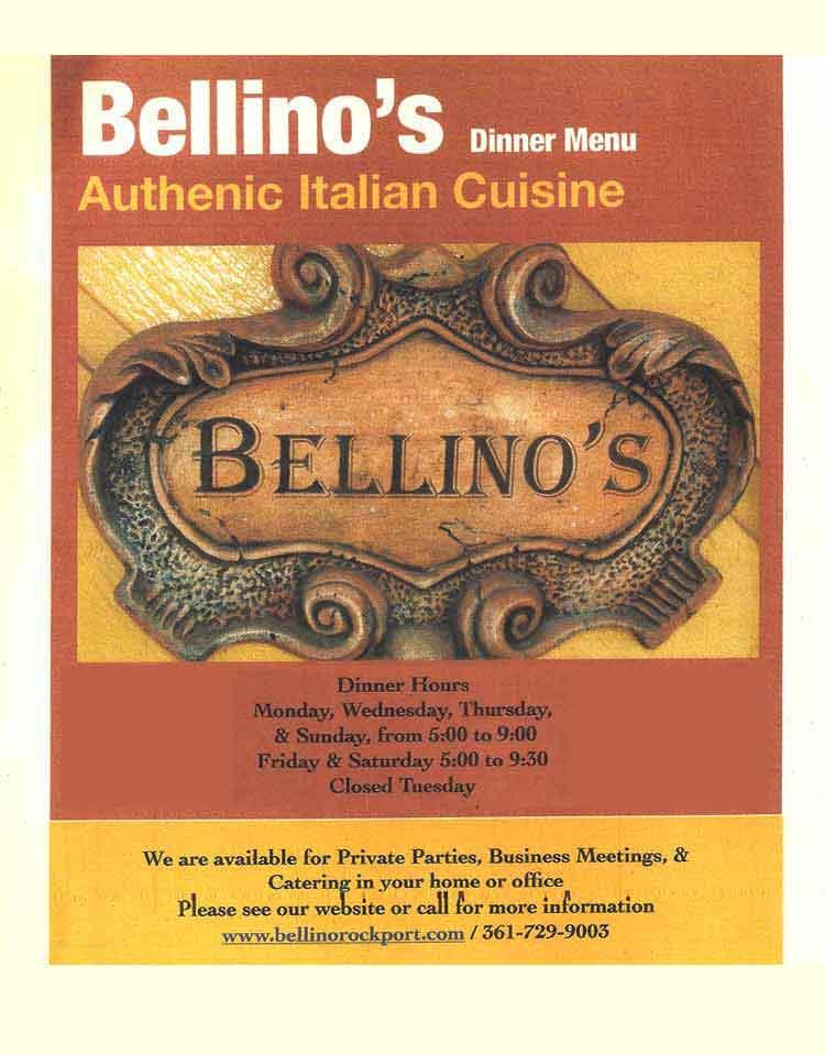 Bellino S Authentic Italian Cuisine Restaurant In Corpus