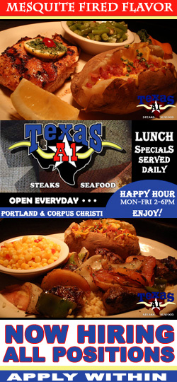Texas A1 Steaks & Seafood Restaurants in Corpus Christi & Portland Texas.