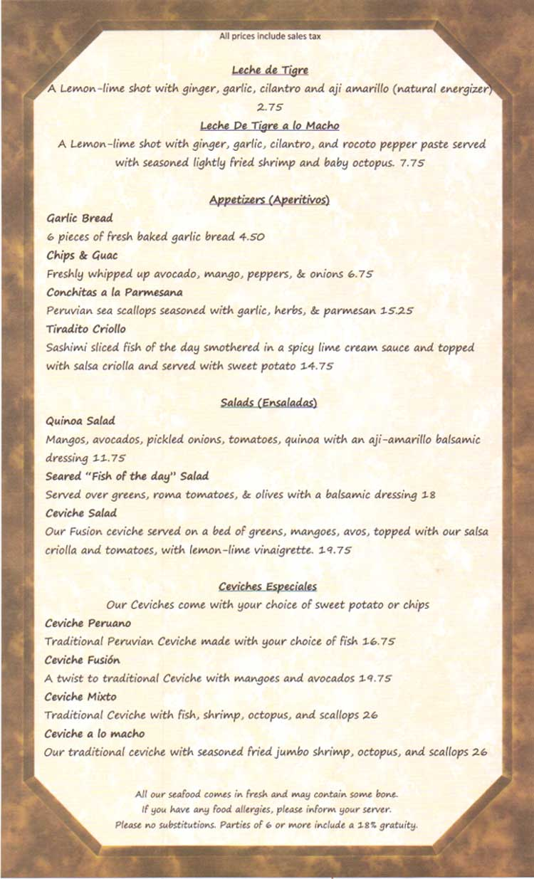 Bend Pizza Kitchen Menu