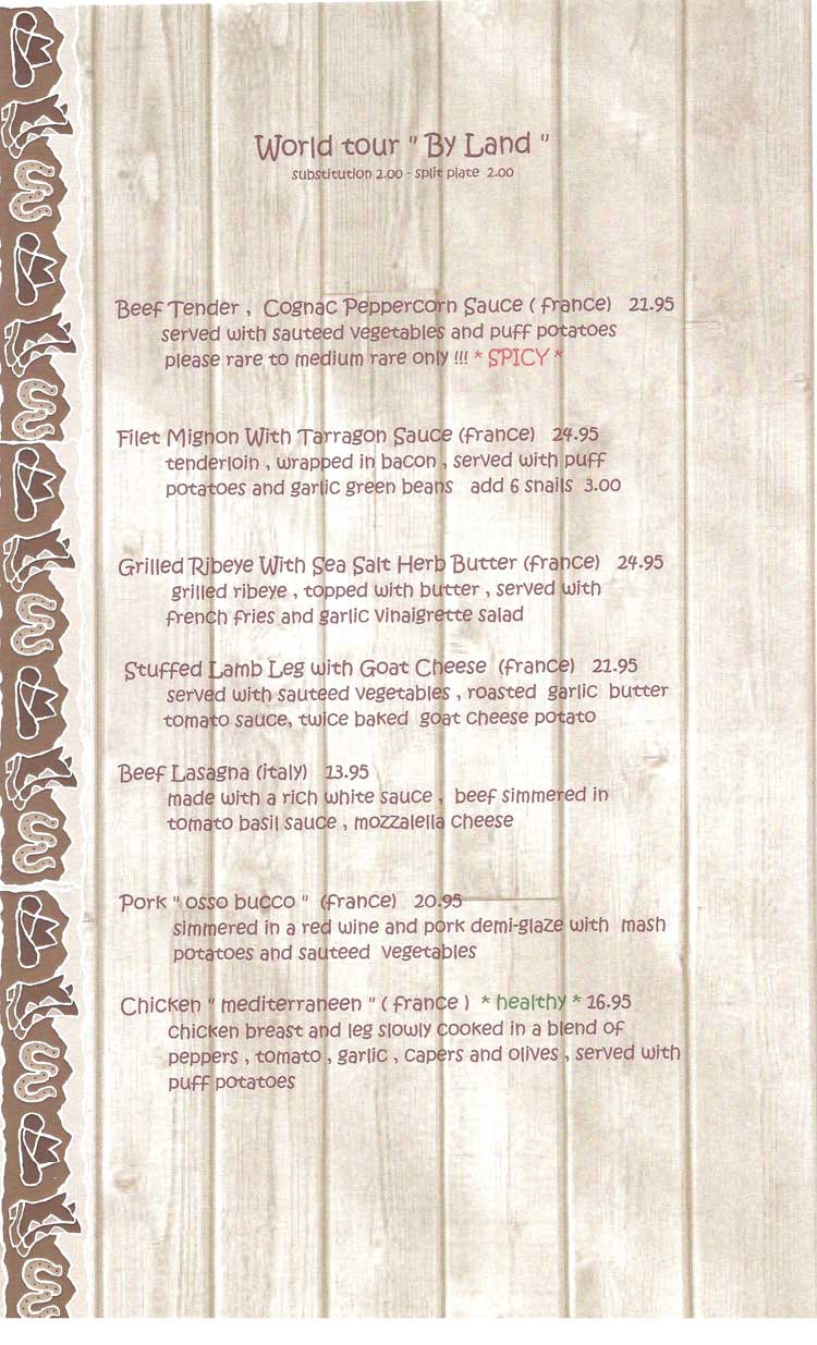 Dragonfly Restaurant Menu Corpus Christi Coastal Bend Menu Guide