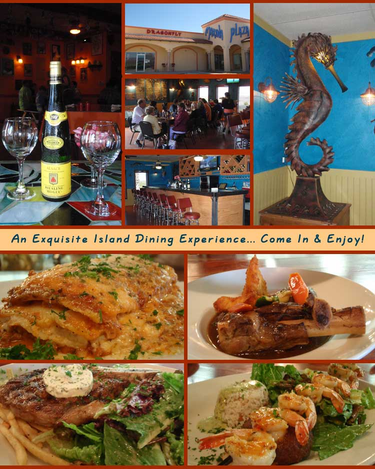 Dragonfly Restaurant Curacao Blues Corpus Christi Padre Island South Texas Coastal Bend Menu Guide