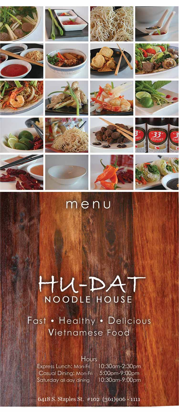 Hu-Dat Noodle House Corpus Christi Restaurant Coastal Bend Menu Guide