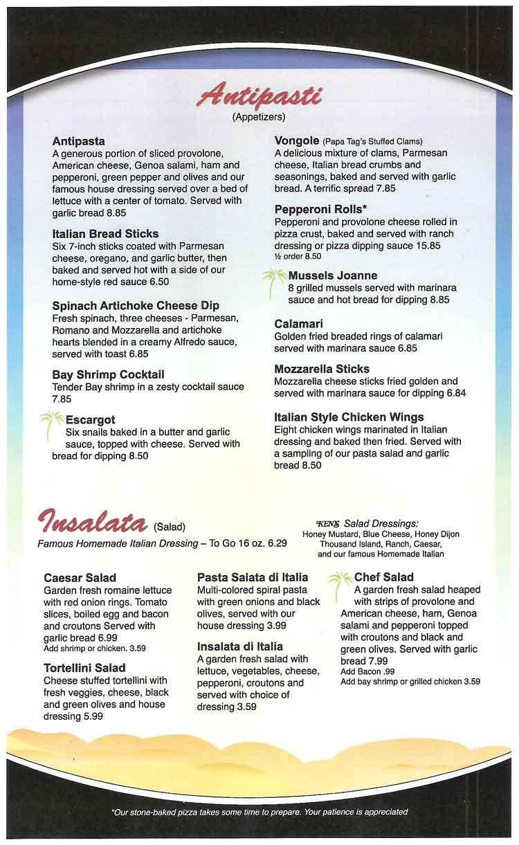 Island Italian Restaurant on Padre Island in Corpus Christi