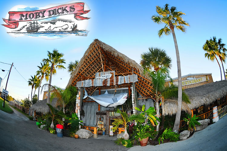 Moby Dick's Restaurant in Port Aransas, TX.