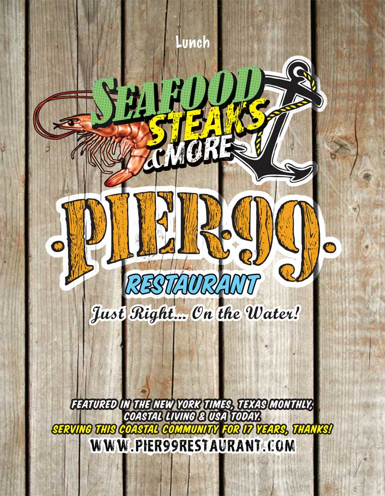 Pier 99 Restaurant Corpus Christi Coastal Bend Menu Guide
