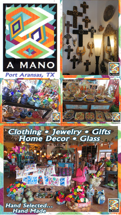 A MANO Imports & Cultural Gifts in Port Aransas, TX.