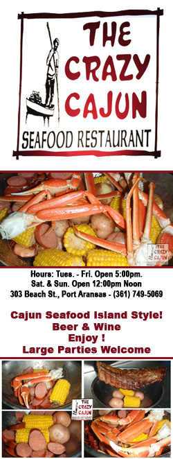 Crazy Cajun Restaurant in Port Aransas, Texas.
