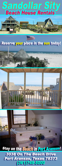 Sandollar Sity Beach House Rentals in Port Aransas, Texas.