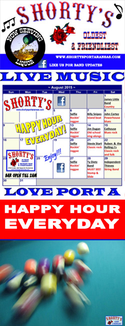 Live Music every weekend at Shortys Place in Port Aransas, Texas.
