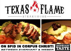 Texas Flame Steakhouse in Corpus Christi, Texas.